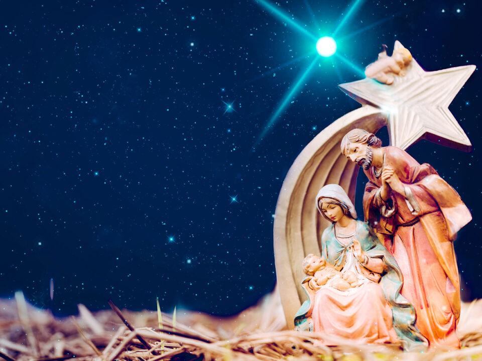 Presépio de Natal com estrela